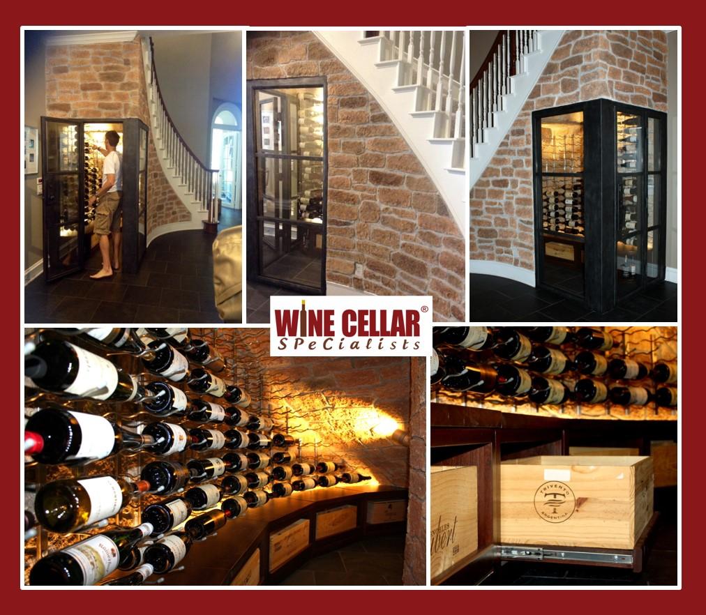 Elegant Coppel Dallas Wine Cellar Under a Staircase.jpg